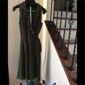 Lauren Ralph Lauren Olive Green Wrap Dress